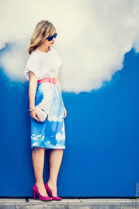 Cloud-Print-Dress